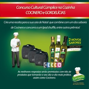 RESULTADO: Concurso Cultural Cúmplice na Cozinha | Cocinero & Gordelícias