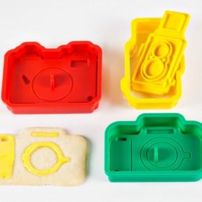 Cortadores para cookies em formato de câmera