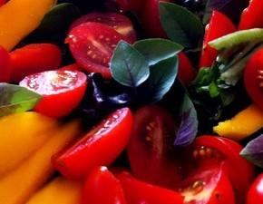 Salada com manga e manjericão #Gordelight