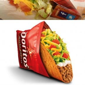 Taco Bell + Doritos = Taco de Doritos