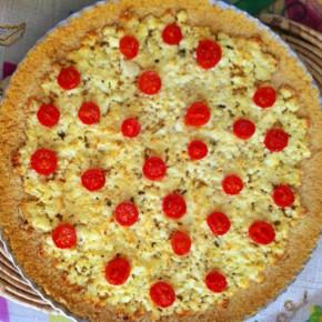 Torta de Ricota com Tomate Grape