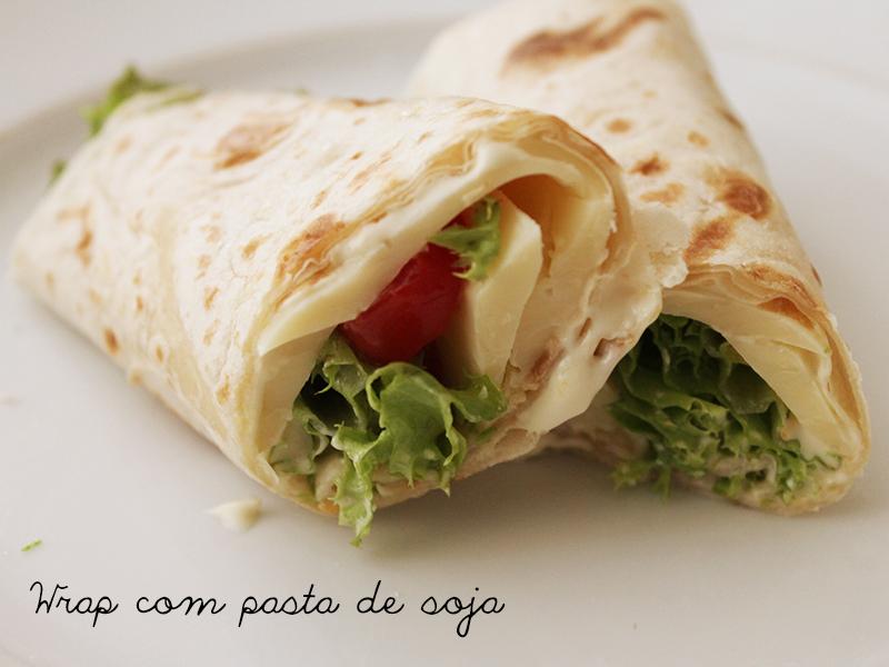 Wrap com Pasta de Soja