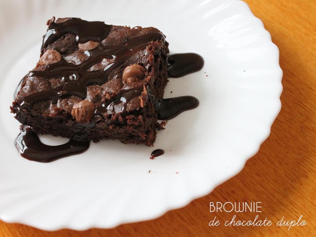 Brownie de Chocolate Duplo
