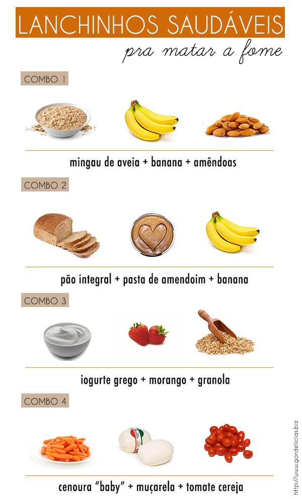 Lanches saudáveis para matar a fome