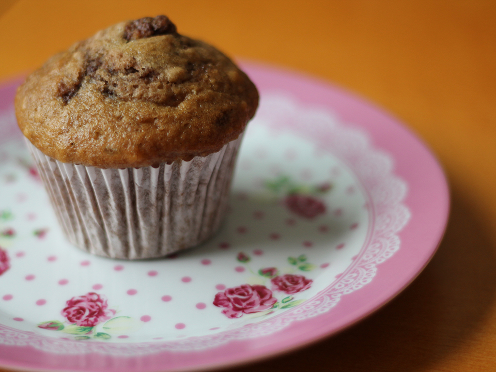 Muffin de Banana com Nutella