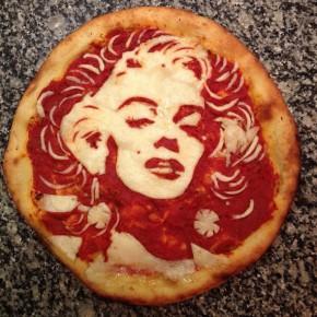 Fazendo arte com pizza