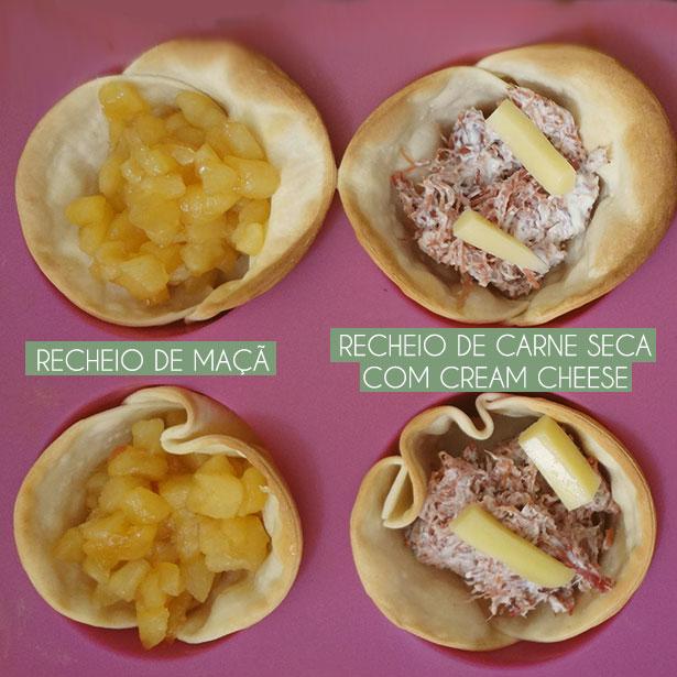 Cestinha de Pastel Recheada | Receita disponível em: https://gordelicias.biz//