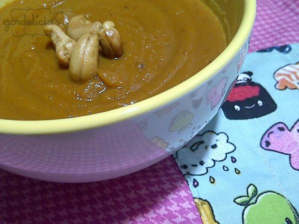 Sopa de Abóbora e Batata Doce