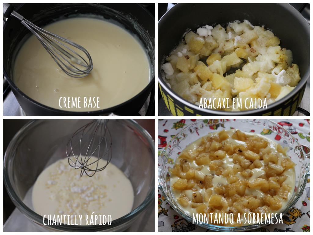 Creme Gelado de Abacaxi com Coco. Receita refrescante e saborosa, mais em https://gordelicias.biz/.