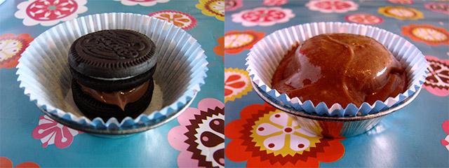 Cupcake de Biscoito Recheado | Receita disponível em https://gordelicias.biz/