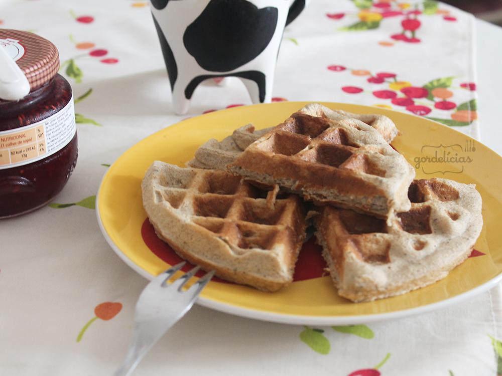 Waffle de Aveia | Gordelícias