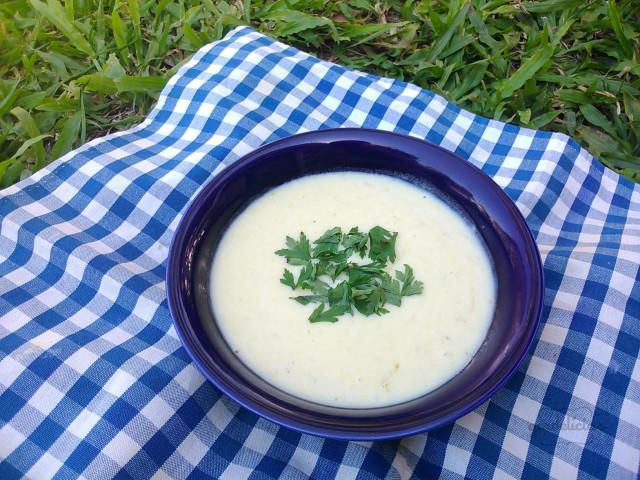 Sopa de Batata Doce e Alho Poró