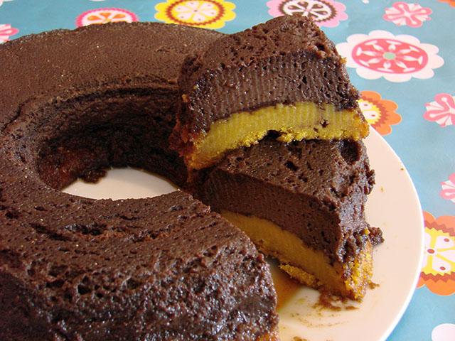 Bolo De Cenoura Com Pudim De Chocolate Gordelícias