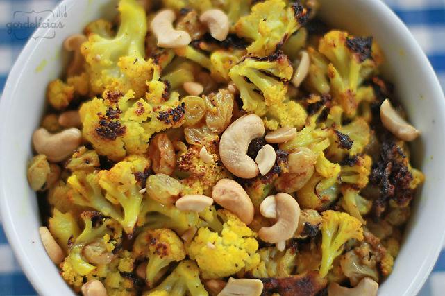 Couve Flor Assada - receita do Jamie Oliver, levemente adaptada por http://gordelicias.biz.