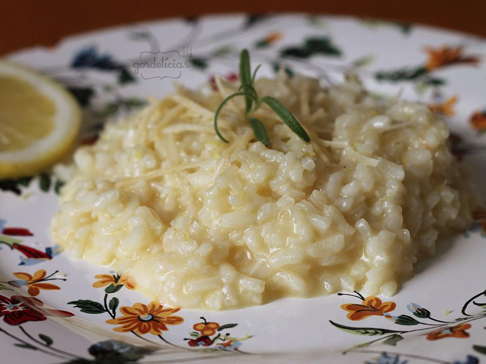 Risoto de Limão Siciliano   Gordelícias