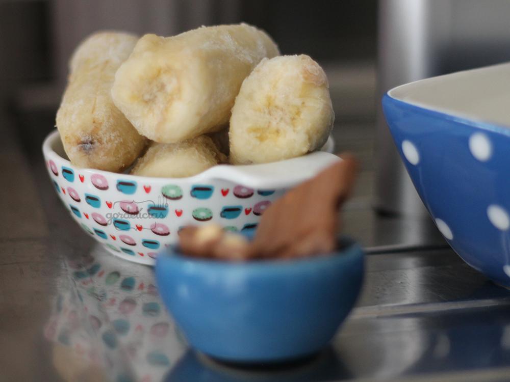 Sorvete de Banana com Chocolate e Avelã | Gordelícias