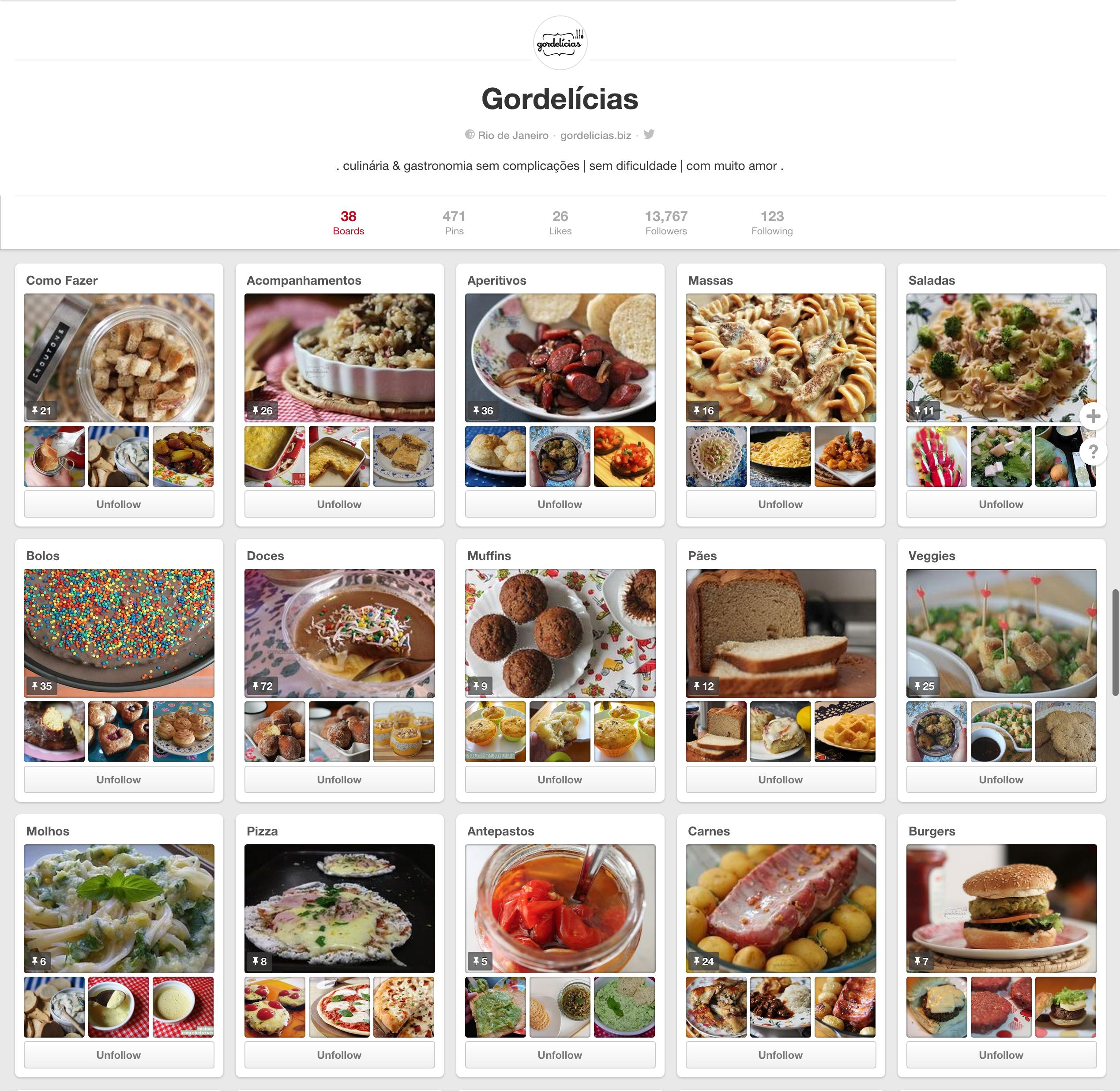 Siga o Gordelícias no Pinterest