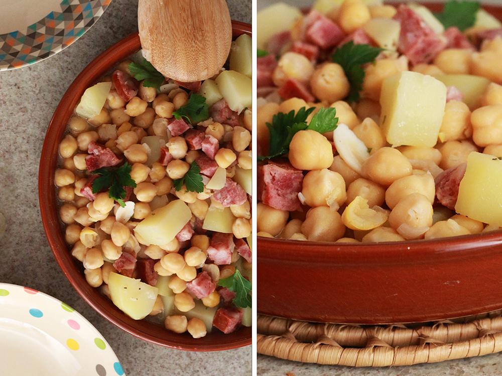 Sopa de Grão de Bico com Linguiça. Mais em https://gordelicias.biz/.