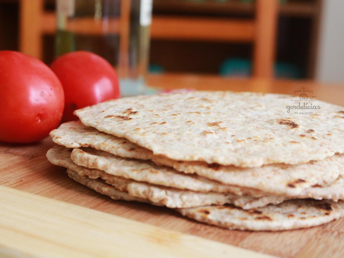 Pão de Piadina Tradicional e Integral