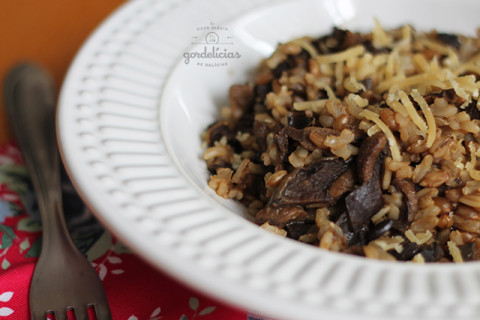 Risoto 7 Cereais ao Funghi. Receita veggie completa no blog http://gordelicias.biz.