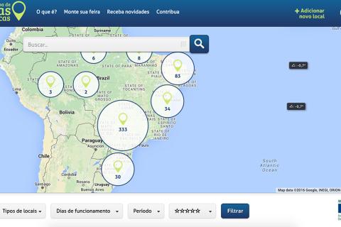 Mapa das Feiras Orgânicas idealizado pelo Idec. Post completo em http://gordelicias.biz.
