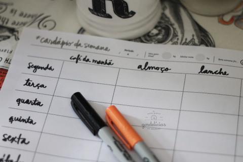 Clique aqui e baixe o Planner Cardápio da Semana by Gordelícias e Studio Libertad.