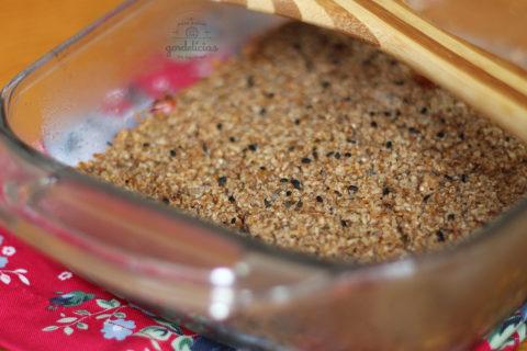 Como fazer quibe de berinjela. Receita completa em http://gordelicias.biz.