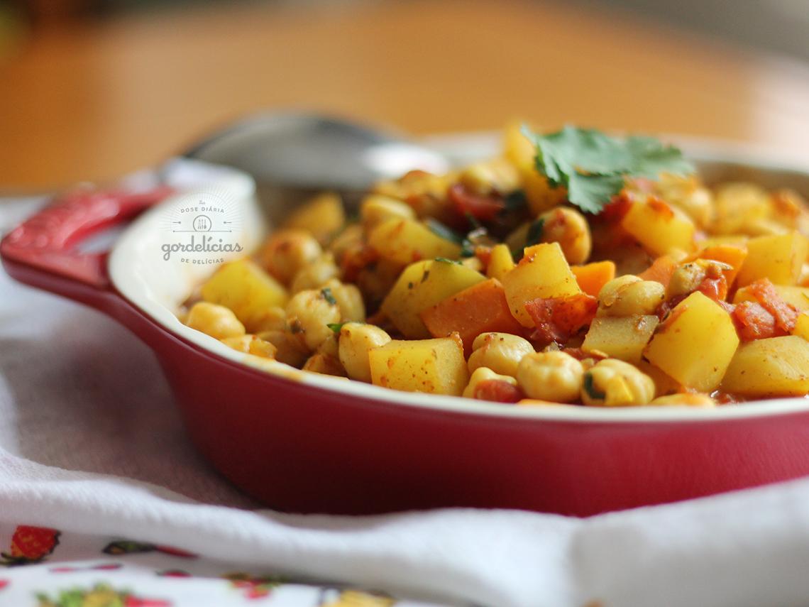 Curry Fácil de Grão de Bico e Batata