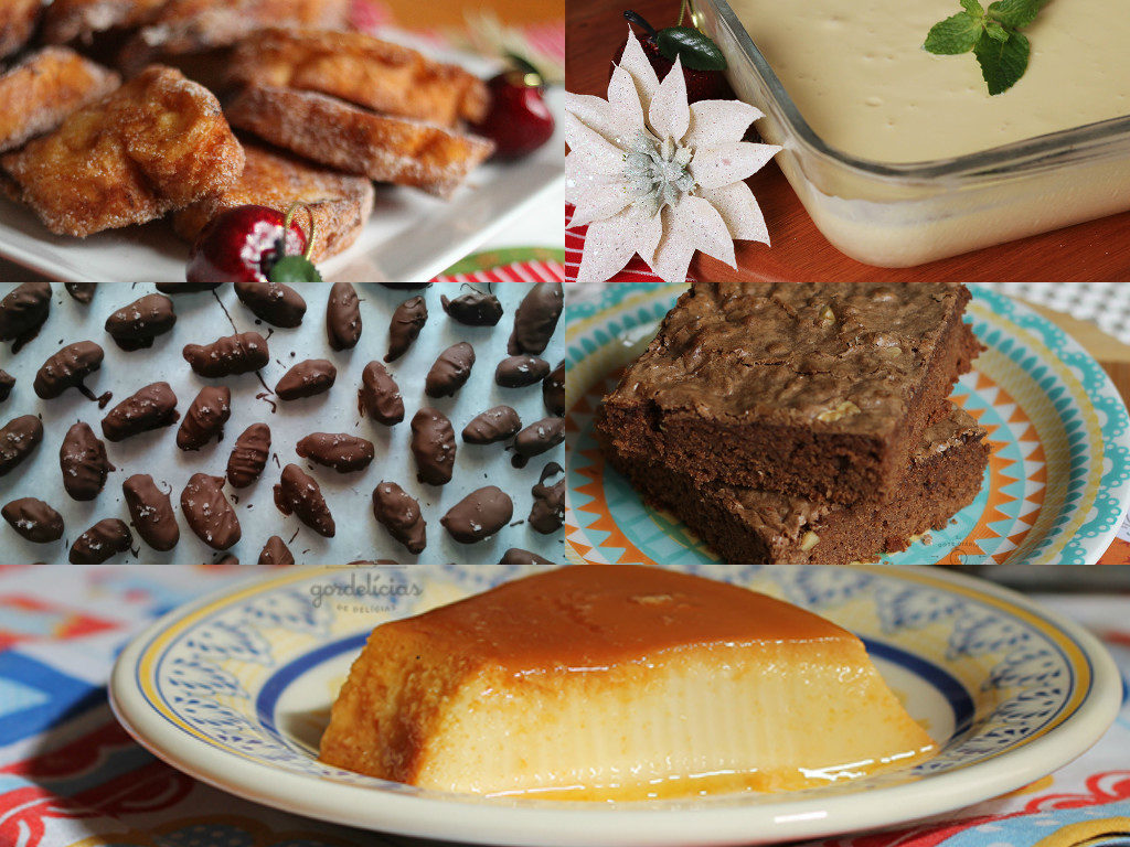 Sobremesas para a ceia de Natal: 15 receitas irresistíveis. Post completo em https://gordelicias.biz/.