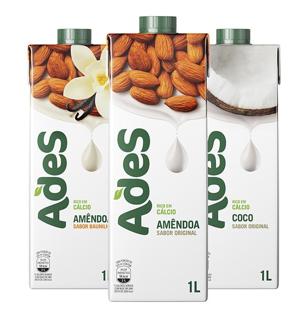 AdeS aumenta linha de bebidas vegetais nos sabores amêndoas e coco. Mais em http://gordelicias.biz.