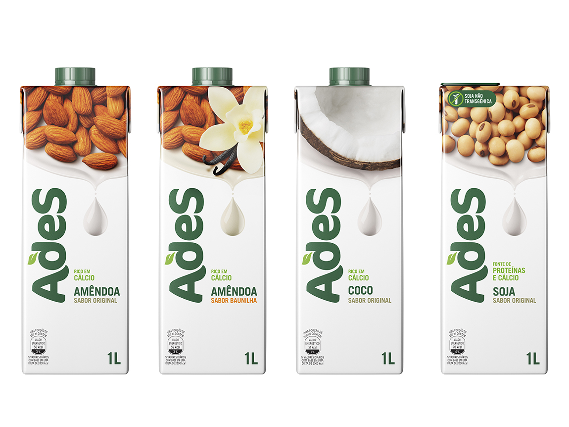 AdeS aumenta linha de bebidas vegetais nos sabores amêndoas e coco. Mais em https://gordelicias.biz/.