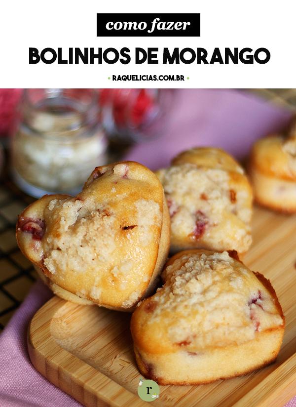 Bolinhos de Morango para o lanche da tarde ou café da manhã